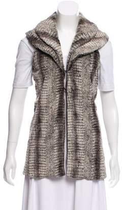 Alice + Olivia Fur Collared Vest