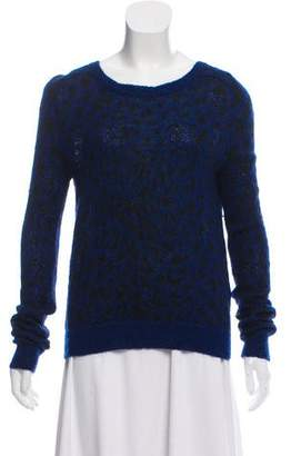 The Kooples Animal Print Bateau Neck Sweater