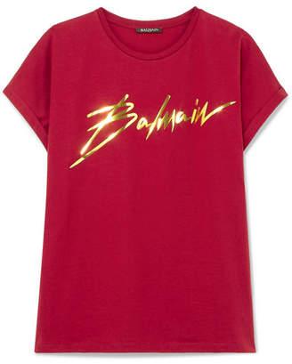 Balmain Metallic Appliqued Cotton-jersey T-shirt
