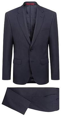 HUGO BOSS Micro-patterned suit in two-toned virgin wool