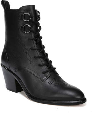 Diane von Furstenberg Dakota Leather Lace-Up Boots