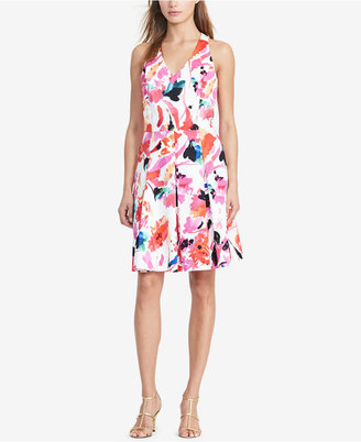 Lauren Ralph Lauren Floral-Print Fit & Flare Dress $135 thestylecure.com