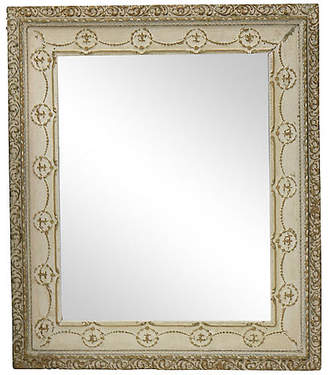 One Kings Lane Vintage Mid-Century French Beveled Wall Mirror - Rose Victoria