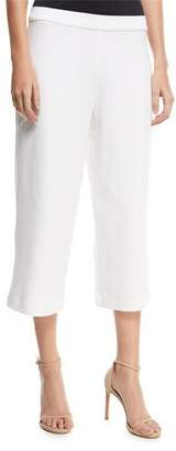 Joan Vass Cropped Wide-Leg Pants, Plus Size