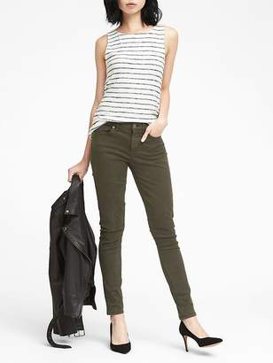 Banana Republic Skinny Stretch Cotton-Blend Sateen Jean