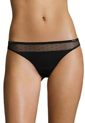 Vince Camuto Dotted Mesh Thong