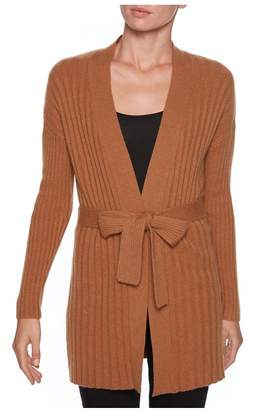 Magaschoni Open Front Belted Cardigan