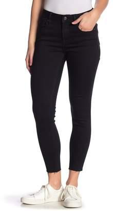 Vigoss Marley Mid Rise Ankle Skinny Raw Hem Jeans
