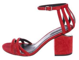 Alexander Wang Suede Ankle-Strap Sandals