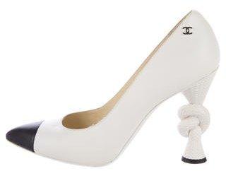 Chanel CC Cap-Toe Pumps