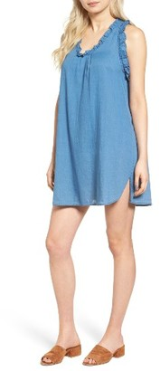 Women's Ag The Dixie Cotton Chambray Swing Dress $178 thestylecure.com