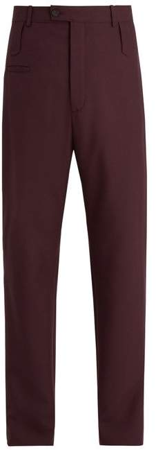 Balenciaga High-rise wool-blend twill trousers