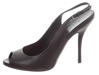 Gucci Lethe Peep-Toe Pumps