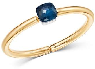 Pomellato 18K Rose & White Gold Nudo London Blue Topaz Bangle Bracelet