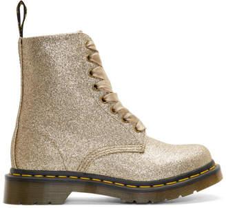 Dr. Martens Gold Glitter 1460 Pascal Boots