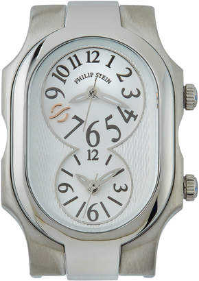 Philip Stein Teslar Rectangle Dual Time Watch Head