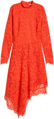H&M Asymmetric Lace Dress - Orange