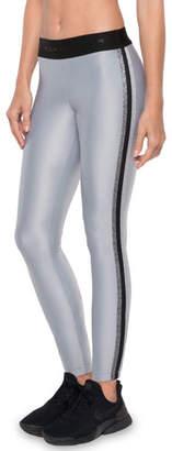 Koral Activewear Rhys Mid-Rise Performance Leggings with Metallic Racer Stripes