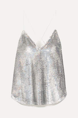 IRO Ernet Sequined Crepe Camisole - Silver