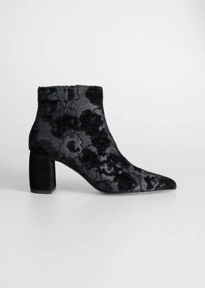 And other stories Metallic Jacquard Ankle Boots