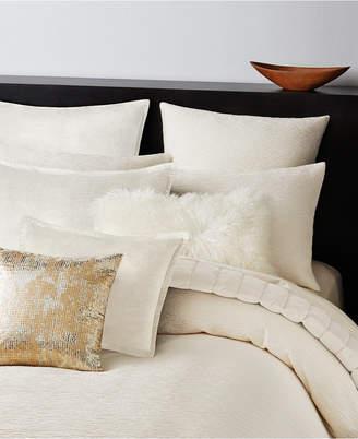 Donna Karan Rhythm Crepe Jacquard Ivory King Duvet Cover Bedding