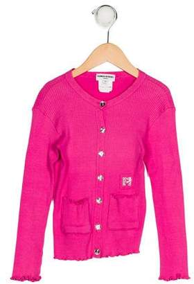 Sonia Rykiel Girls' Button-Up Long Sleeve Cardigan