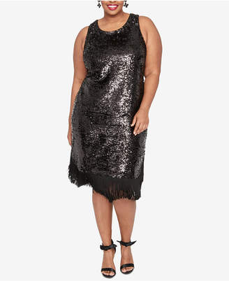 Rachel Roy Plus Size Fringe Sheath Sequin Dress