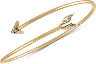 Rachel Roy Gold-Tone Pave Arrow Cuff Bracelet