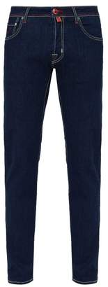 Jacob Cohen Contrast Stitch Mid Rise Jeans - Mens - Blue