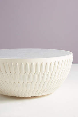 Anthropologie Bethan Gray for Feather Collection Drum Coffee Table
