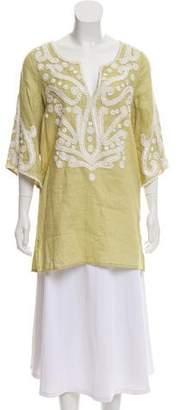 Calypso Linen Embroidered Tunic