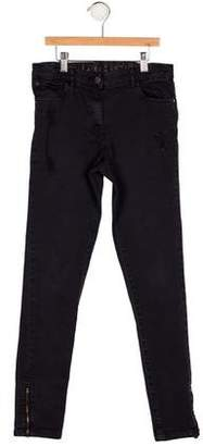 Stella McCartney Girls' Five Pocket Distressed Jeans