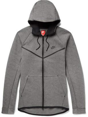 Nike Sportswear Cotton-Blend Tech Fleece Zip-Up Hoodie
