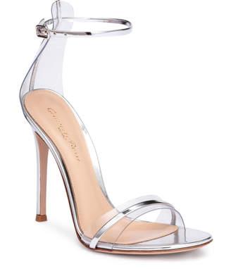 Gianvito Rossi Portofino 105 pvc-trimmed silver sandals