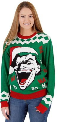 Junk Food Clothing The Joker HAHA HOHO Ugly Christmas Sweater