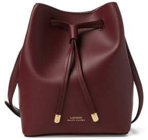 Lauren Ralph Lauren Mini Leather Drawstring Bucket Bag