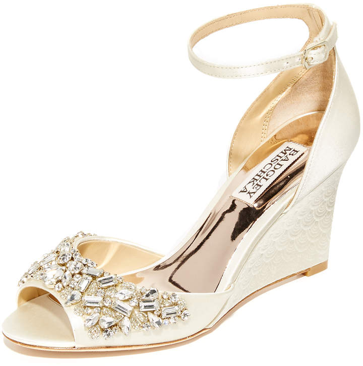 Badgley Mischka Barbara Wedge Sandals