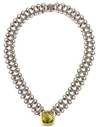 David Yurman Quartz Albion Chainmail Pendant Necklace