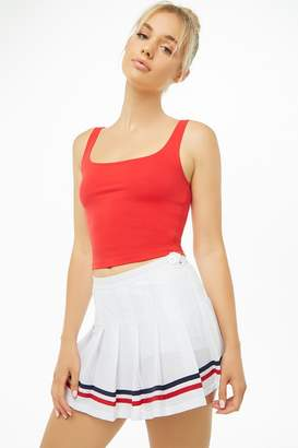 Forever 21 Active Striped-Trim Pleated Tennis Skirt