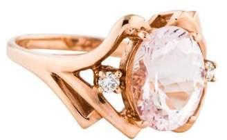 Alberto 14K Morganite & Diamond Ring