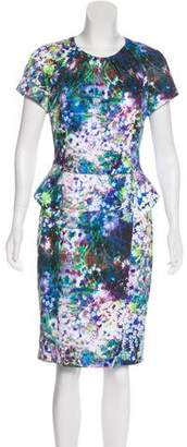 Basler Floral Print Knee-Length Dress