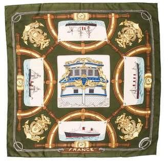 Hermes Vintage France Silk Scarf