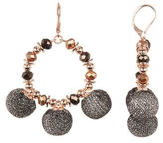 Rebecca Minkoff High Shine Pompom Chandler Earrings