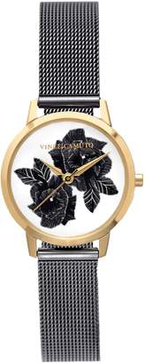 Vince Camuto Floral Mesh-band Watch