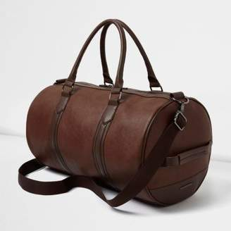 River Island Mens Tan faux leather holdall