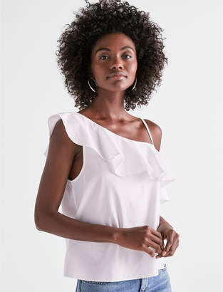 Lucky Brand ONE SHOULDER RUFFLE TOP