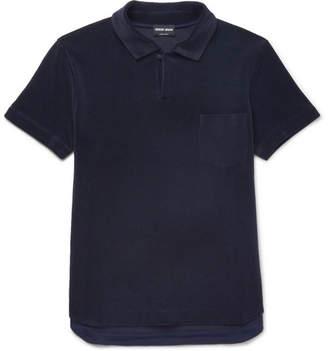 Giorgio Armani Slim-Fit Cotton-Blend Terry Polo Shirt