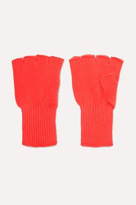 The Elder Statesman Cashmere Fingerless Gloves - Red
