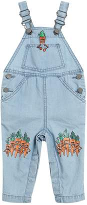 Stella McCartney Carrots Print Chambray Overalls