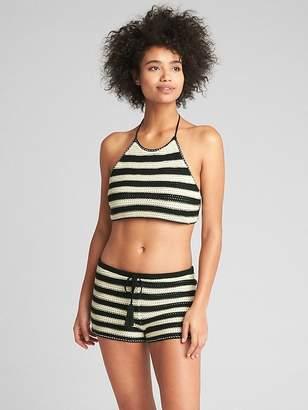 Gap Stripe Crochet Halter Top